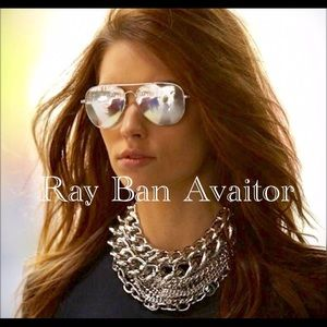 💯% Ray Ban Sunglasses RB3025 Silver Flash sexy ‼️